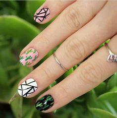 Cacti nail art #chelseaqueen