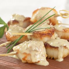 Sea Scallops with Wasabi Mustard Sauce from Stonewall Kitchen