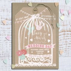 25 Vintage Love Birds Save The Date Luggage Tags by papertreemedia, €62.50