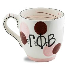 Gamma Phi Beta Ceramic Dot Mug