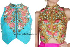 Floral Embroidered Blouse Designs are one of the hottest trending blouse designs. Here are some tips to nail the floral blouse design trends.