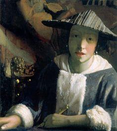 Girl with a Flute, Johannes Vermeer.