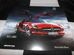 MERCEDES AMG SLS 6L V8 COUPE GULLWING SALES BROCHURE PROSPEKT ENGLISH RARE 2009