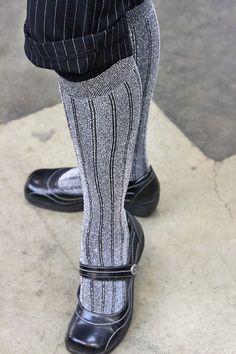 @Foot Traffic brings us lurex knee highs with plenty of sparkle! $9