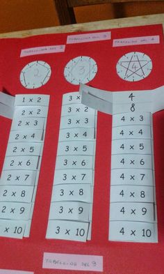 """mamma e mimma: Lapbook delle tabelline [ """"good idea for fact practice-fast finisher activity. Add a new list once they have mastered the first. Montessori Math, Homeschool Math, Fun Math Games, Math Activities, Math Skills, Math Lessons, Waldorf Math, Math Multiplication, Math Projects"""