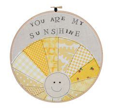 You are My Sunshine Wall Hoop from OllieRose via Made It