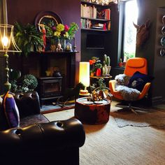 Chesterfield in dark interiors with Abigail Ahern accessories