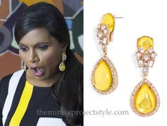 Mindy's yellow jeweled drop earrings from the season premiere of The Mindy Project can now be yours! Get on that, if you haven't already. /// Salvador Perez x BaubleBar Jewel Swing Drops - $32 Worn with...