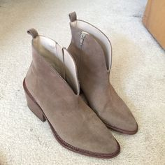 Zara Trafaluc Beige Suede Booties Zara booties. Worn a handful of times. In good condition. Made in Spain, size 40 European. No scuff marks on heels, only on soles. Zara Shoes Ankle Boots & Booties
