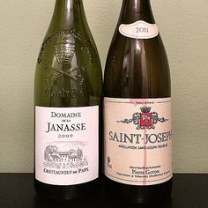 Just like the Civil War, the North won!   Two greats of the wine world, on the same night.   Domaine de la Janasse Chateauneuf-du-Pape & Pierre Gonon Saint-Joseph
