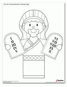 ten commandments Colouring Pages (page 2)