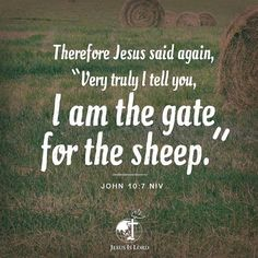 """VERSE OF THE DAY  Therefore Jesus said again, """"Very truly I tell you, I am the gate for the sheep."""" John 10:7 NIV #votd #verseoftheday #JIL #Jesus #JesusIsLord #JILchurch #JILworldwide"""