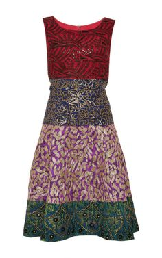 Embroidered Jacquard Dress by Oscar de La Renta Now Available on Moda Operandi