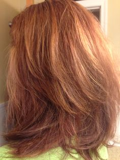 Red copper with hilites hair