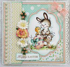 """Het kaartenhoekje van Gretha: Wee Stamps """"Easter Bunny"""""""