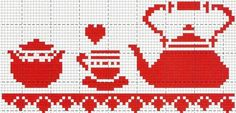 Cross Stitch Borders, Cross Stitching, Cross Stitch Embroidery, Cross Stitch Patterns, Crochet Patterns, Cross Stitch Kitchen, Pixel Pattern, Tapestry Design, Knitting Charts