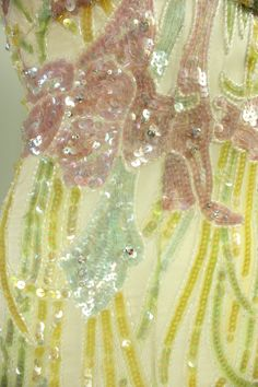 Detail of a 1970's Bob Mackie Sequined Gown....nice pastel colours!
