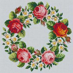 Spring Wreath Susan Treglown mesh: 13:1 dimension: 12 x 12