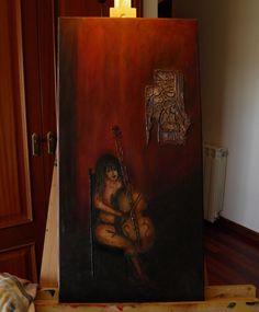 Cielo ... (disponível) Pintura acrilica sobre tela 60 x 40 Autor: Guma 2011  Ref: 260