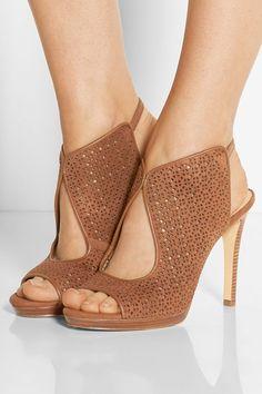 Elinor laser-cut suede sandals