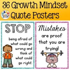 growth mindset quotes for kids Growth Mindset Activities, Growth Mindset Posters, Teaching Kindergarten, Teaching Resources, School Resources, Classroom Resources, Teaching Ideas, Teaching Character, Character Education
