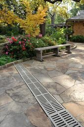 Outstanding Landscape Drainage Design Ideas Some Things That Are Needed And Not For Landscape Drainage 17 - topzdesign . Backyard Drainage, Landscape Drainage, Drainage Ditch, Patio Drainage Ideas, Rock Drainage, Backyard Patio, Patio Ideas, Backyard Ideas, Driveway Landscaping