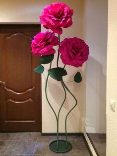 Большие цветы из изолона своими 26
