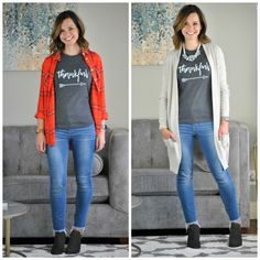 Pretty Fix November: Two Ways to Wear a Thankful Tee | Get Your Pretty On