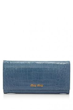 ad77782e1e Miu Miu St.Cocco Lux Long Flap Wallet Small Leather Goods