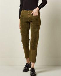 Pantalón combinado de mujer Sfera en verde