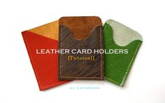 Leather Card Holders TUTORIAL {Made-for-Man} Maybe add an extra pocket at the back?