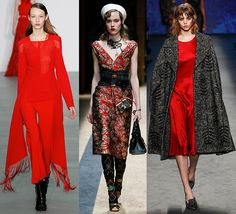 aurora red colores moda fw 2016 Antonio Berardi, Alberta Ferretti, Pantone, Peplum Dress, Prada, My Style, Hot, Aurora, Dresses