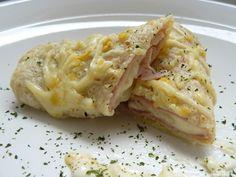 Crepes salados rellenos de jamón y queso
