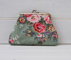 Green and Pink English Rose Purse Make Up Bag by GreenCallow, £22.00