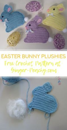 Easter Bunny Plushies | Free Crochet Pattern at Ginger Peachy
