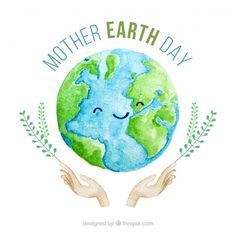 Cute watercolour background for the mother earth day Vector Mother Earth Drawing, Earth Day Drawing, Earth Drawings, Earth Day Quotes, Earth Day Posters, Earth Poster, Earth Day Pictures, Earth Day Images, Earth Day Projects