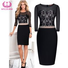 Find More Dresses Information about MYCOURSE Women Sexy Mesh Patchwork Dress 3/4 Sleeve Bodycon Dresses For Women,High Quality dress glitter,China dress taiwan Suppliers, Cheap dresses ladies from MYCOURSE on Aliexpress.com