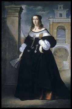 Portrait of a Noblewoman of Ancona (1650-1660)    Luigi Primo - Walters Art Museum