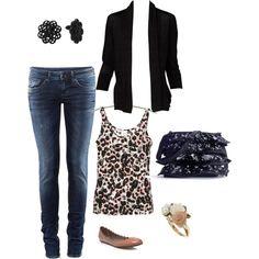 Dressy casual leopard print