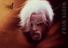 Dust! The Cresthaal Chronicles White Wolf Portrait by Shiru-Deku