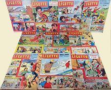 Lot 10 magazines anciens LISETTE de 1962 n° 12 30 31 32 33 34 35 36 37 38 revue