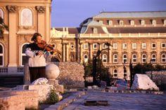 Young musician, Buda Castle. view on FB https://www.facebook.com/BudapestPocketGuide  credit: BTH #Budapest
