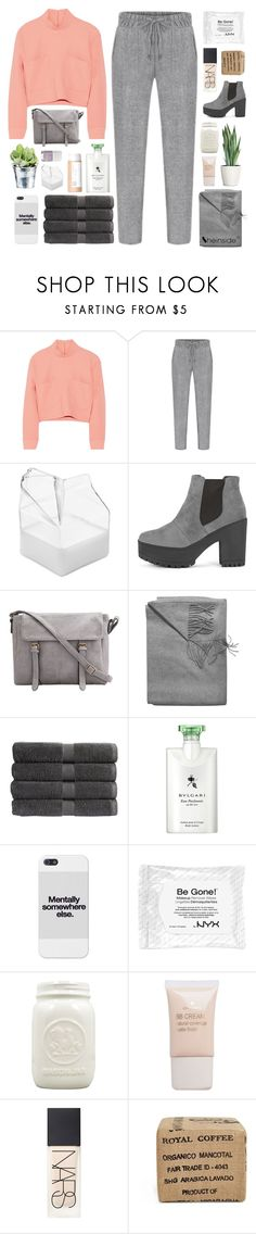 """COME BACK TO ME"" by elainesabine ❤ liked on Polyvore featuring Issa, Sofia Cashmere, CO, Christy, Bulgari, Pieces, NARS Cosmetics and Gus* Modern"
