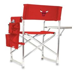Chicago Bulls Folding Camping Chair With Side Table