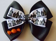 18 Inch Doll Halloween Black White Hair Bow Doll Handmade Halloween Hair Bow Stacked Pinwheel Bow American Girl Wellie Wisher Hair Bow by RachelsHairBowtique on Etsy