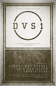 DVS1 [ 4-Hour Set ] presented by Incognito x The Gold Line at Secret Location TBA