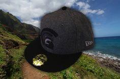 MUA MELTON WOOLD GREY / BLK NEW ERA | FITTED HAWAII
