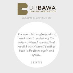#JustJennyFromTheBlog testimonal to Dr Bawa Luxury Aesthetics #TheNameOnEveryoneLips