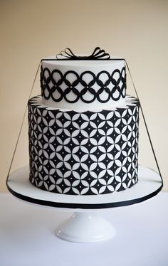 Black and White Deco Cake