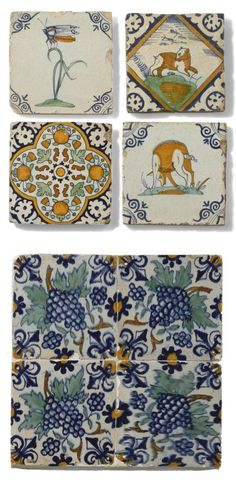 A COLLECTION OF DUTCH DELFT TILES, MOSTLY 17TH CENTURY